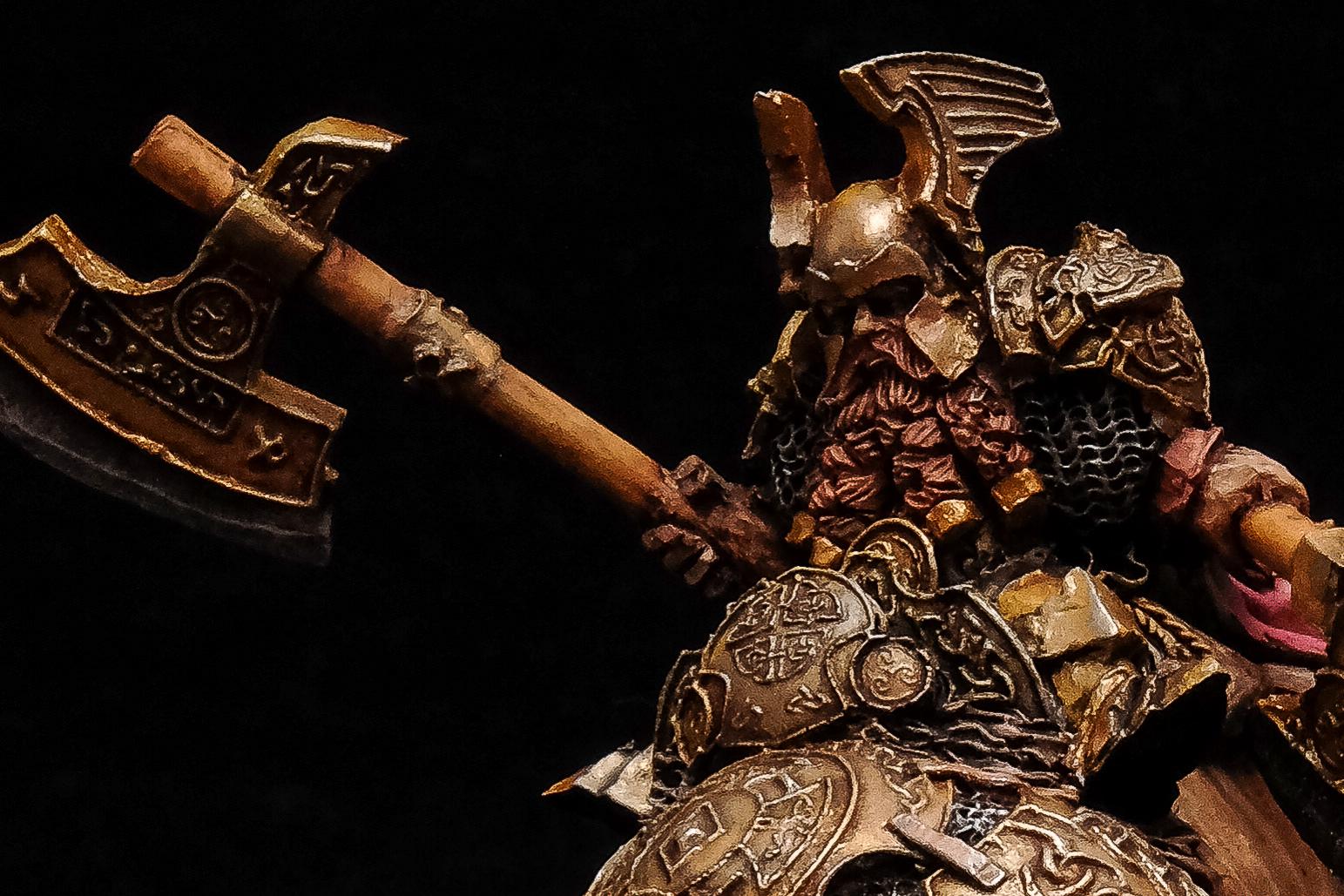 Dwarf General On War Bear (SCIBOR MONSTROUS MINIATURES)