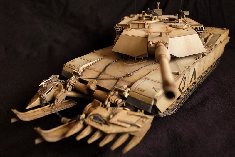 Tamiya M1A1 Abrams with Mine Plow