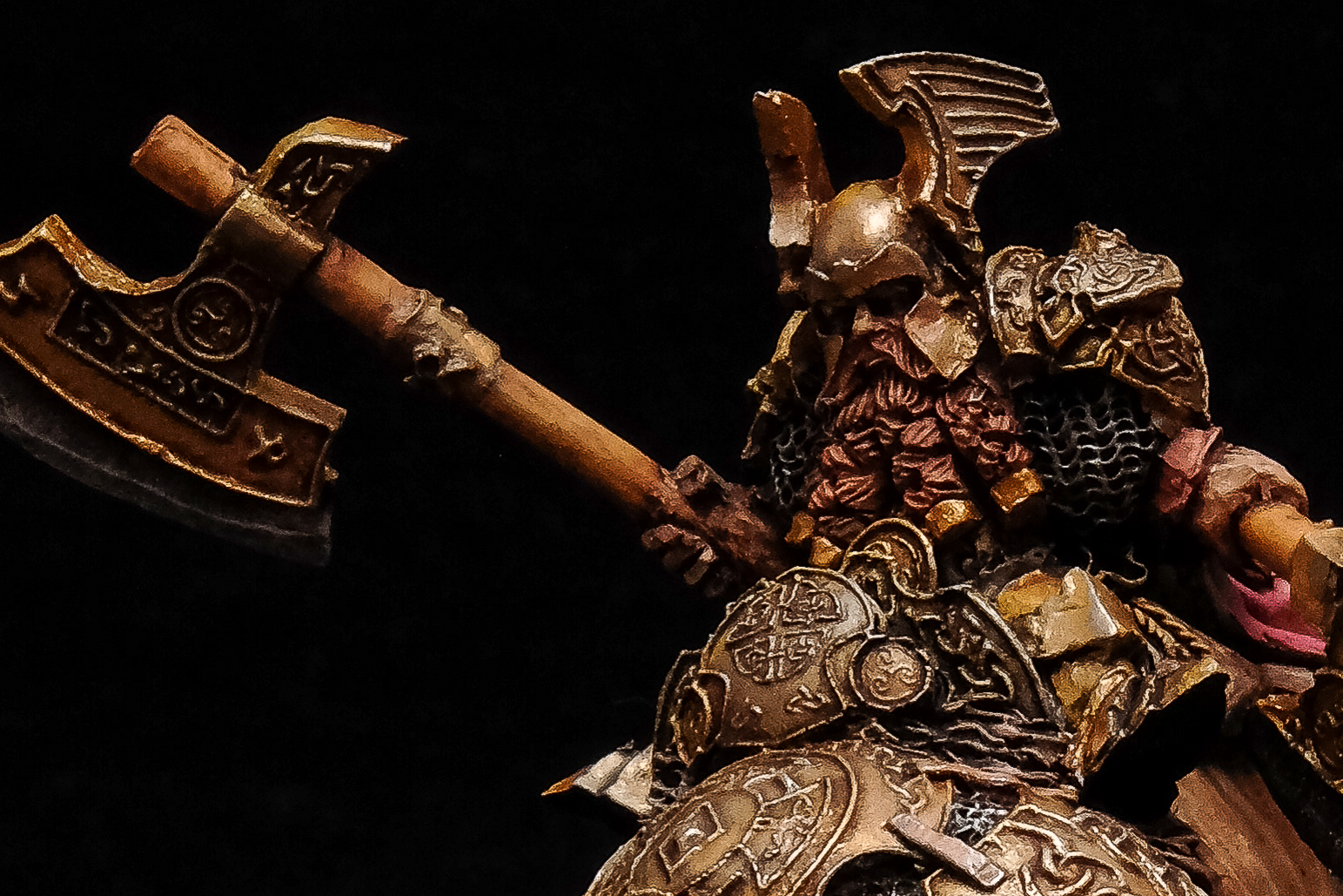 Dwarf General On War Bear (SCIBOR MONSTROUS MINIATURES)
